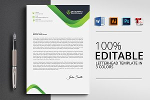 Letterhead with 4 Formats