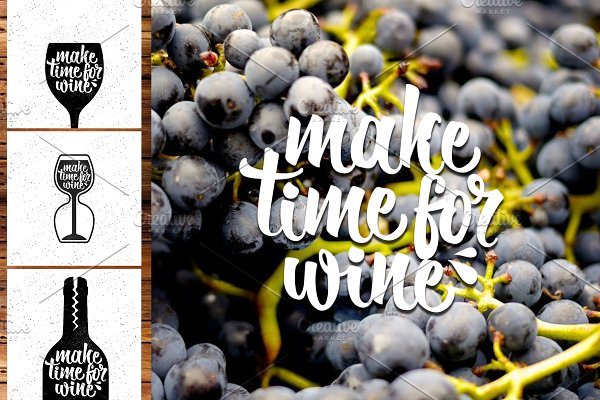 Hand Lettering Quotes about Wine(2)