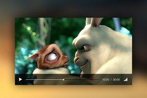 Video Player UI PSD