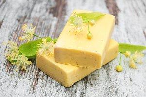 Handmade linden Soap