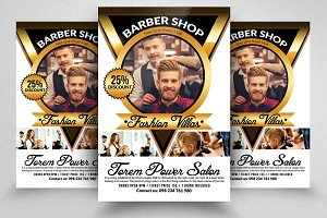Barber Shop Psd  Flyer Templates