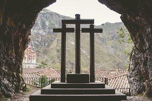 Crosses in Covadonga, Spain