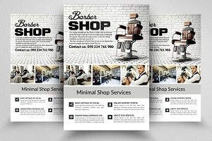 Clean Barber Shop Flyer Templates