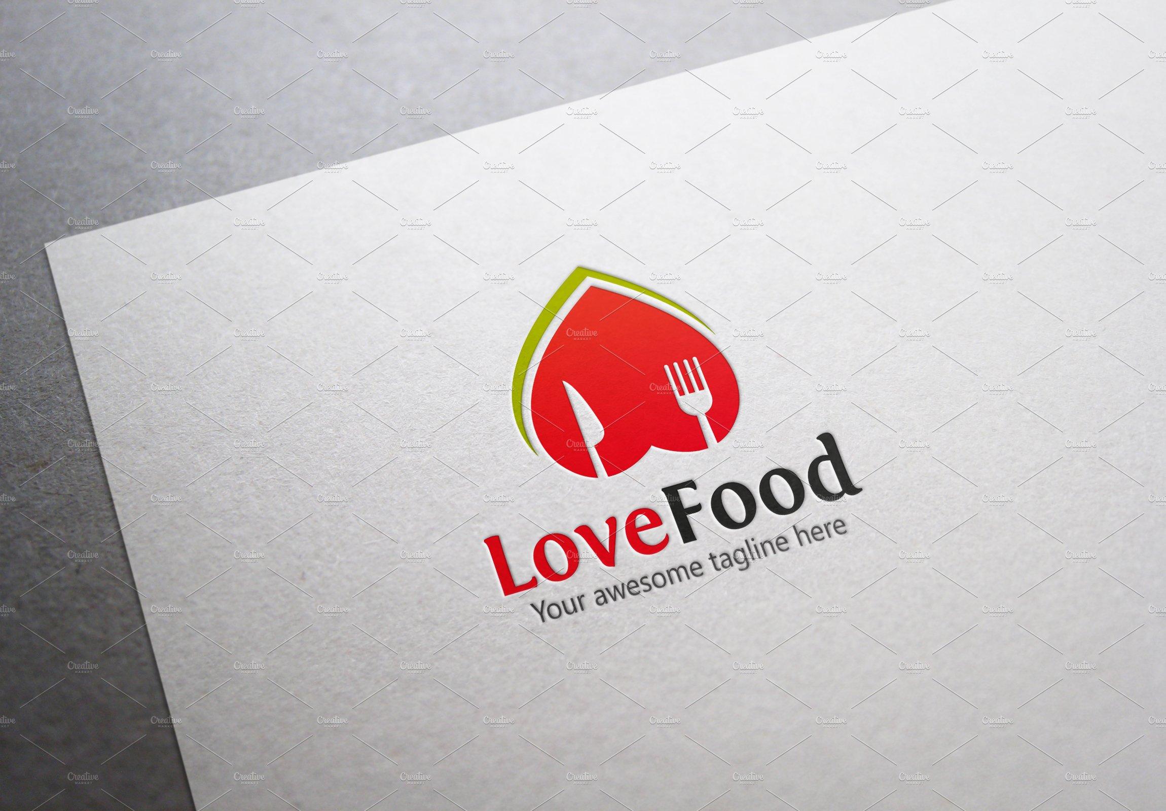 Love Food Logo Templates Creative Market
