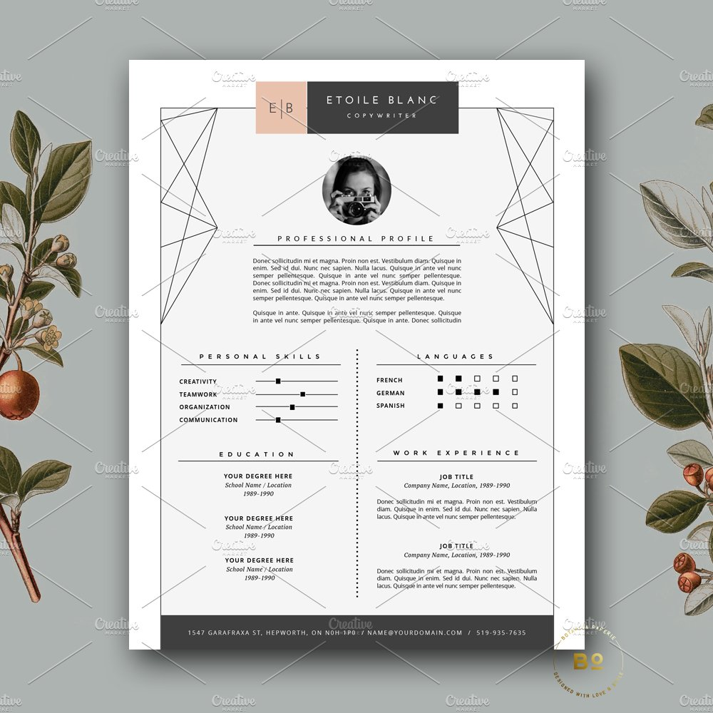 creative resume templates you won t believe are microsoft word creative resume template for ms word