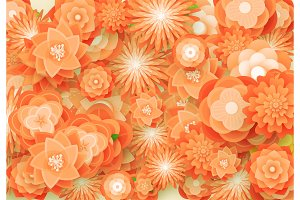 Flower orange background.