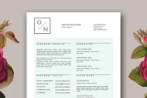 Hipster Resume Template for MS Word