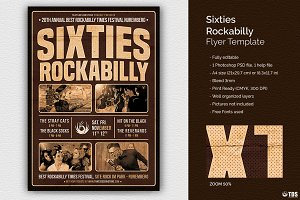 Sixties Rockabilly Flyer Template