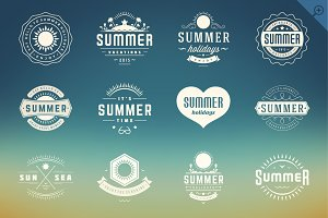 Summer Holidays Badges