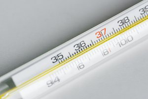 Closeup of thermometer