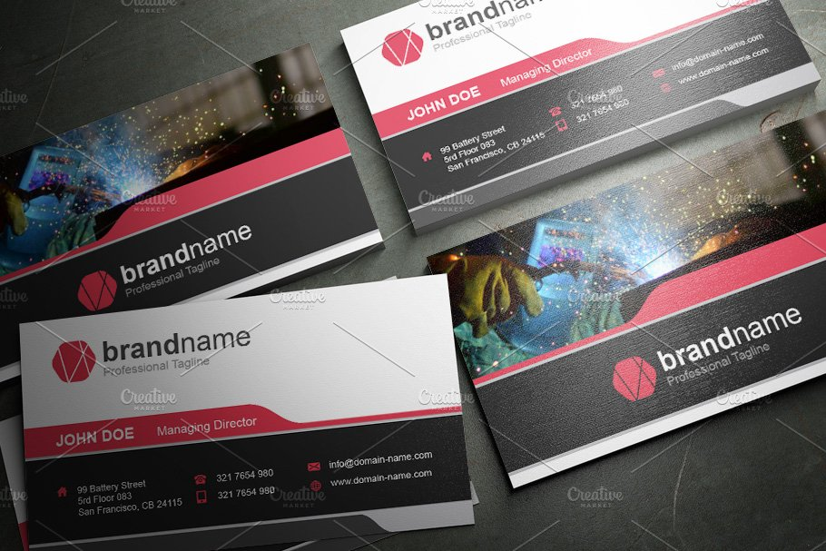 50 Corporate Timeless Business Card in Business Card Templates - product preview 48