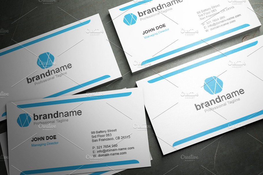 50 Corporate Timeless Business Card in Business Card Templates - product preview 45