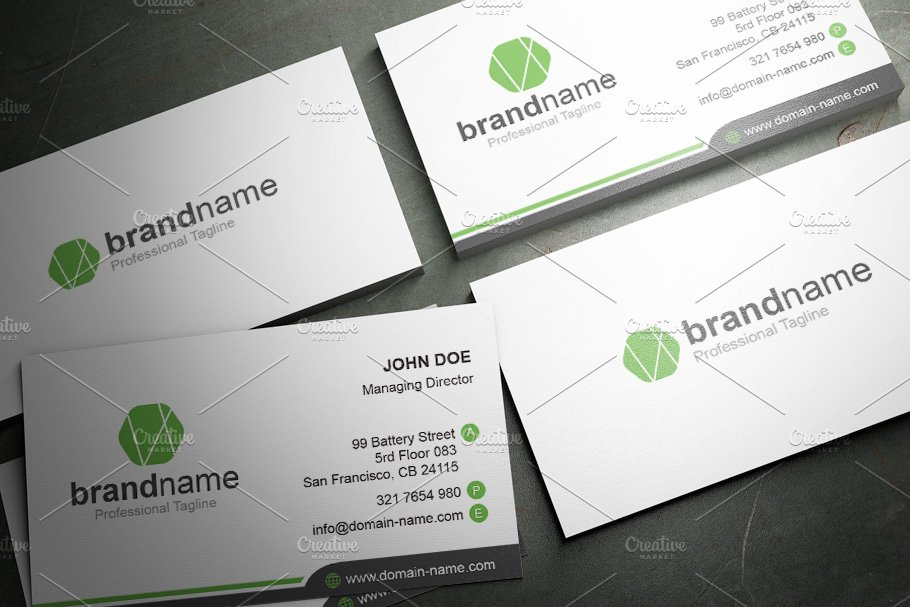 50 Corporate Timeless Business Card in Business Card Templates - product preview 44