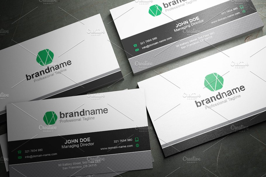 50 Corporate Timeless Business Card in Business Card Templates - product preview 43