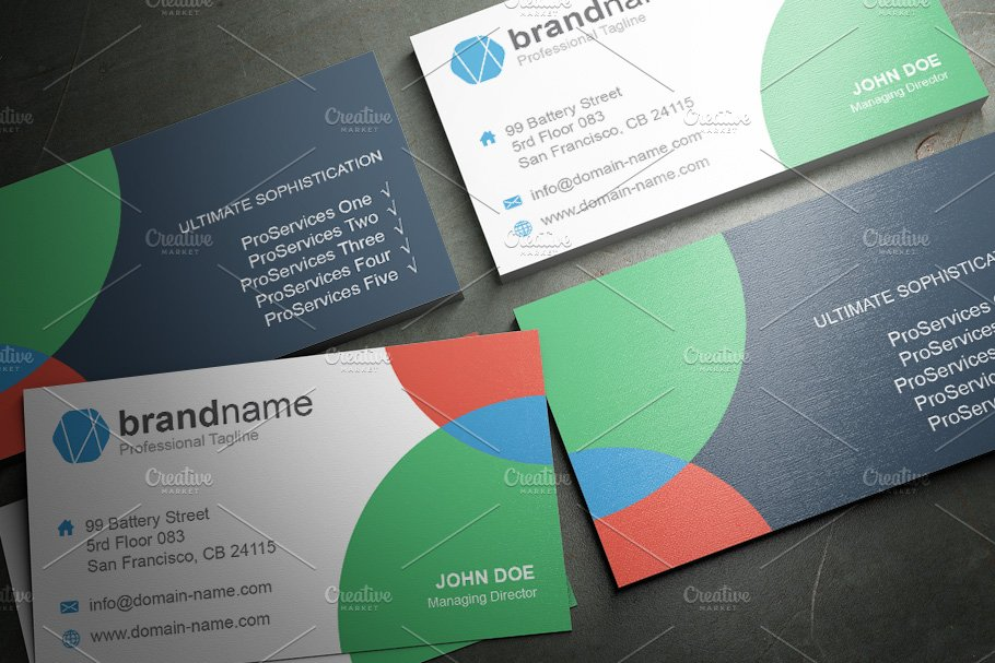 50 Corporate Timeless Business Card in Business Card Templates - product preview 42