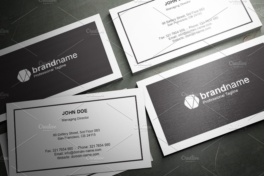 50 Corporate Timeless Business Card in Business Card Templates - product preview 40