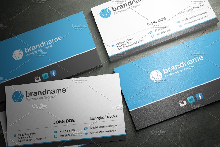 50 Corporate Timeless Business Card in Business Card Templates - product preview 39