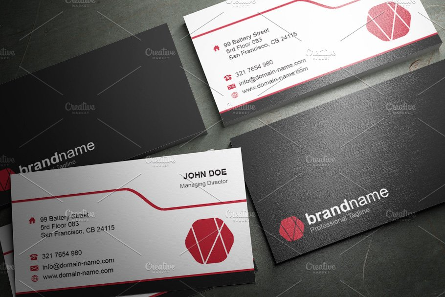 50 Corporate Timeless Business Card in Business Card Templates - product preview 38