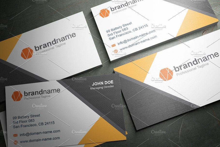 50 Corporate Timeless Business Card in Business Card Templates - product preview 37