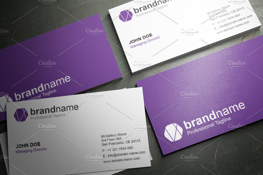 50 Corporate Timeless Business Card in Business Card Templates - product preview 36