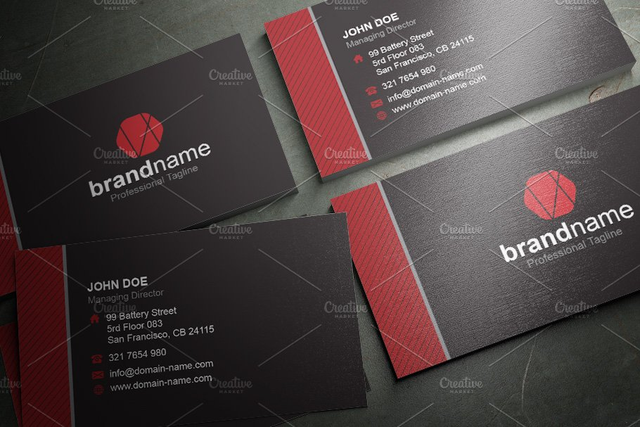 50 Corporate Timeless Business Card in Business Card Templates - product preview 35