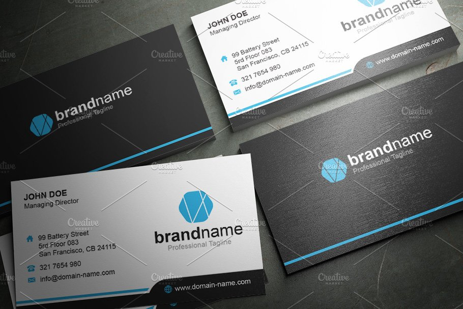 50 Corporate Timeless Business Card in Business Card Templates - product preview 33