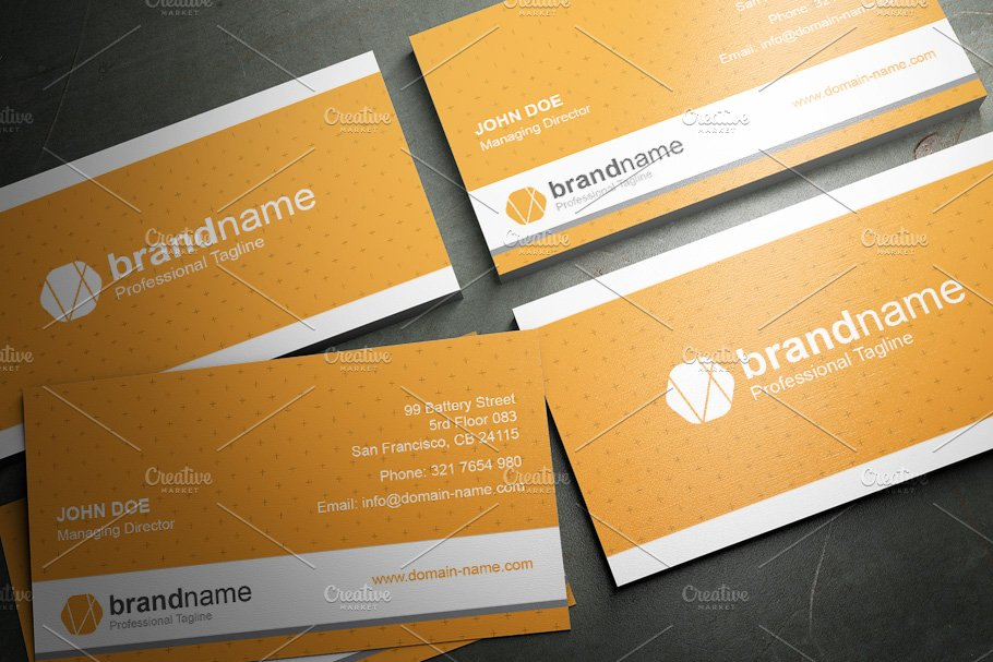 50 Corporate Timeless Business Card in Business Card Templates - product preview 31