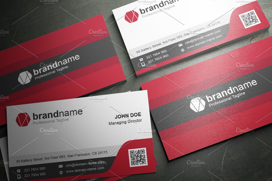 50 Corporate Timeless Business Card in Business Card Templates - product preview 29