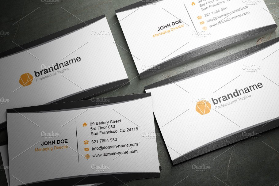 50 Corporate Timeless Business Card in Business Card Templates - product preview 28