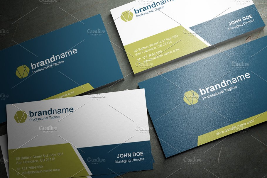 50 Corporate Timeless Business Card in Business Card Templates - product preview 27