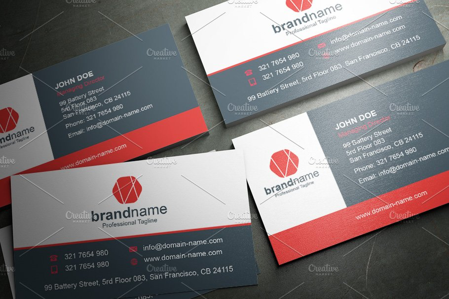 50 Corporate Timeless Business Card in Business Card Templates - product preview 26
