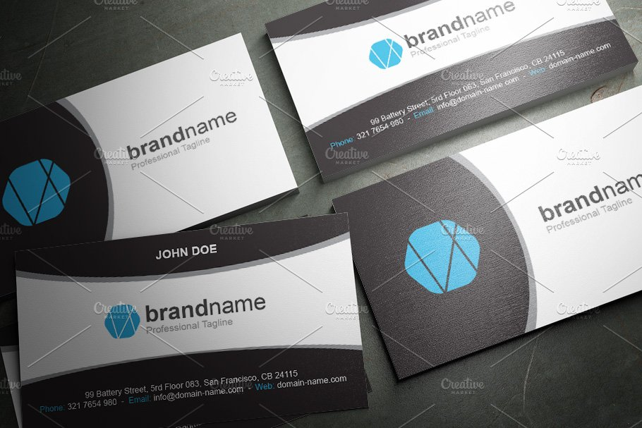 50 Corporate Timeless Business Card in Business Card Templates - product preview 25