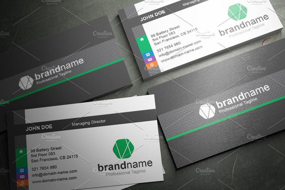 50 Corporate Timeless Business Card in Business Card Templates - product preview 24