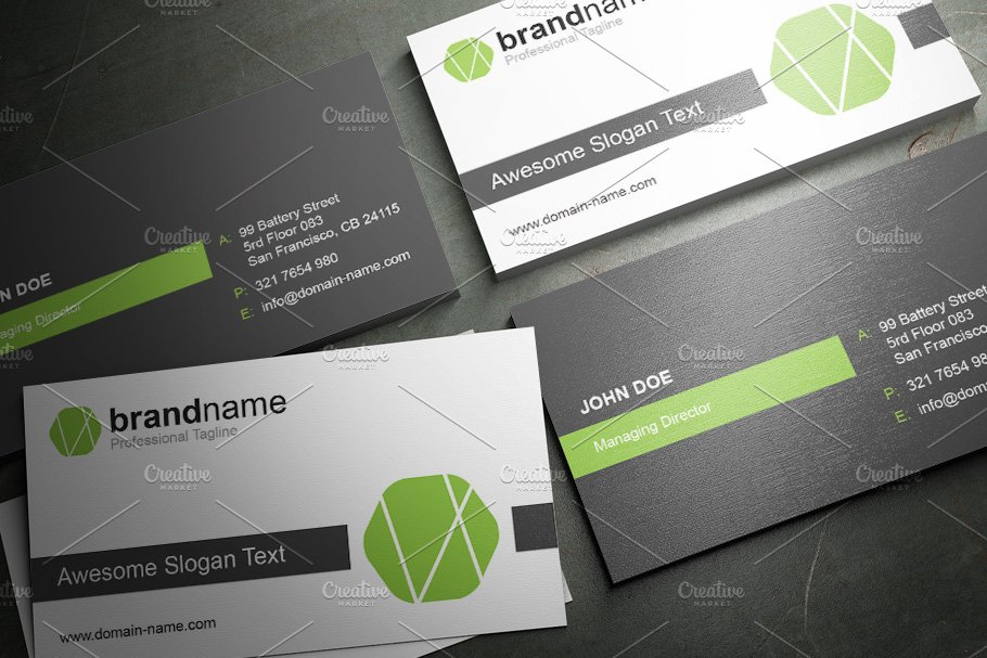 50 Corporate Timeless Business Card in Business Card Templates - product preview 23