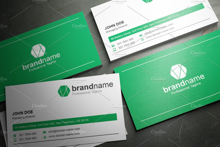 50 Corporate Timeless Business Card in Business Card Templates - product preview 19