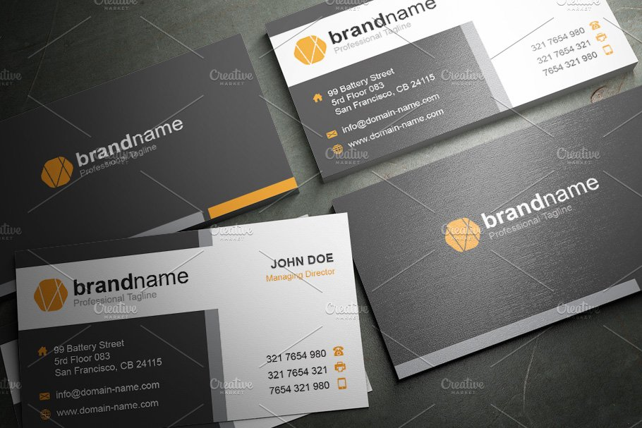 50 Corporate Timeless Business Card in Business Card Templates - product preview 18