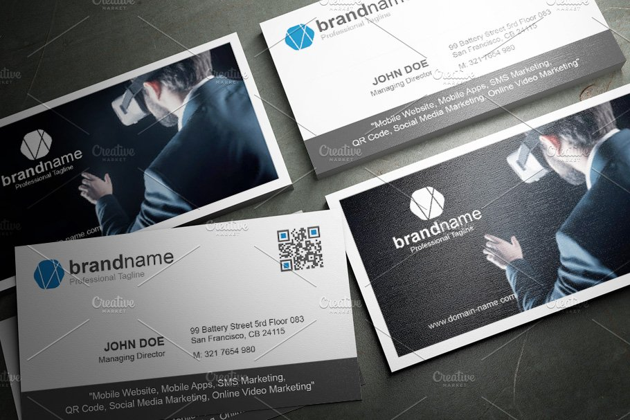 50 Corporate Timeless Business Card in Business Card Templates - product preview 17