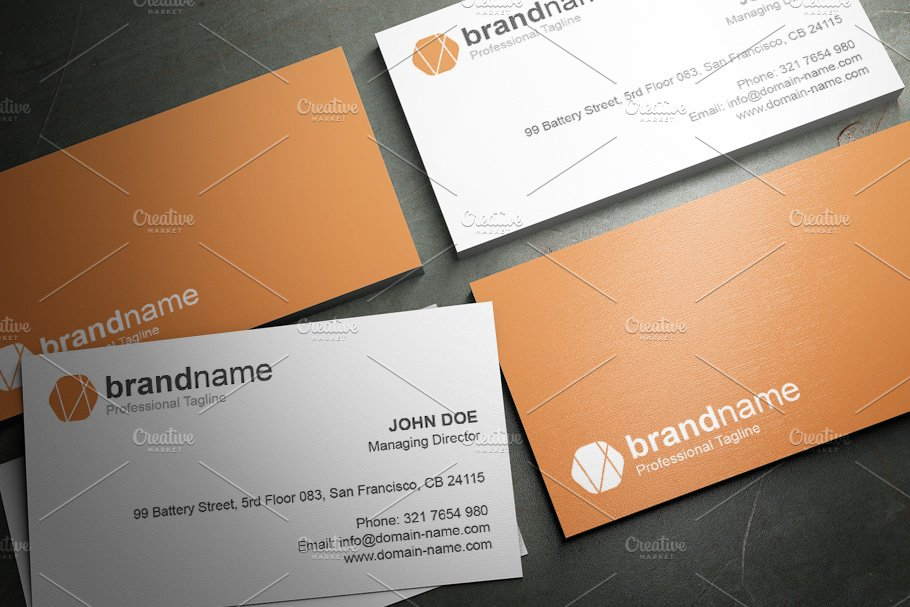 50 Corporate Timeless Business Card in Business Card Templates - product preview 16