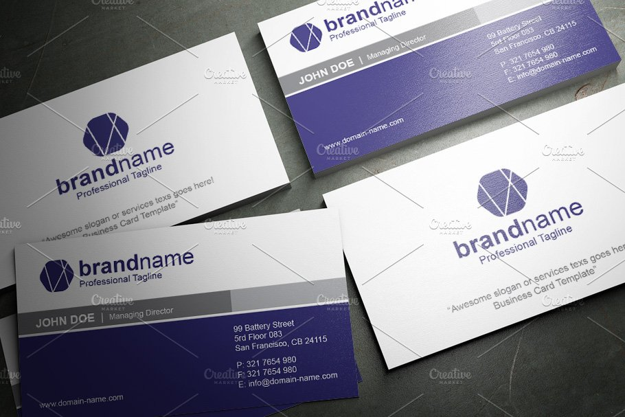 50 Corporate Timeless Business Card in Business Card Templates - product preview 15