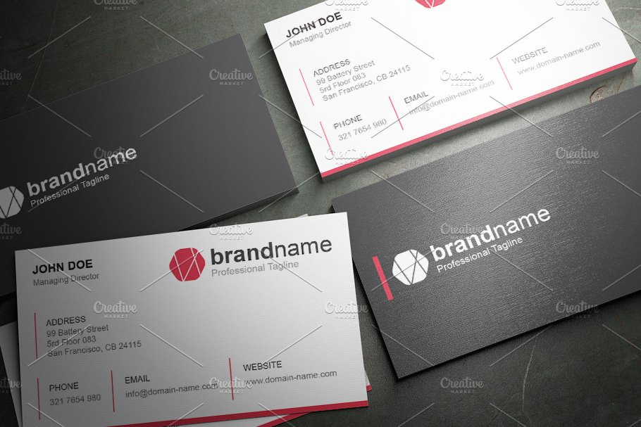 50 Corporate Timeless Business Card in Business Card Templates - product preview 14