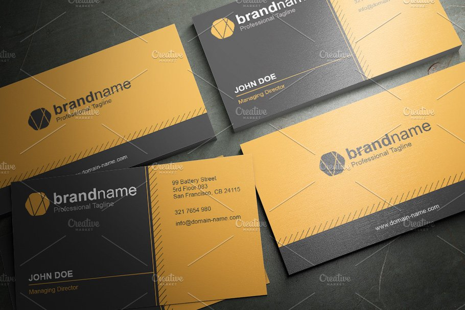 50 Corporate Timeless Business Card in Business Card Templates - product preview 13