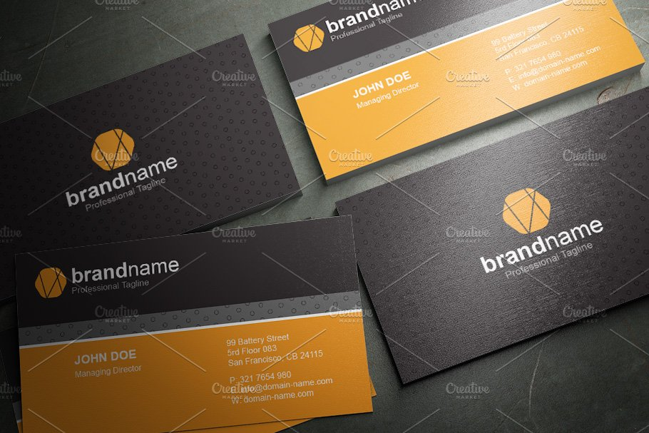 50 Corporate Timeless Business Card in Business Card Templates - product preview 12