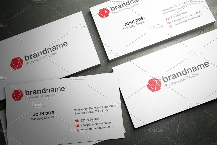 50 Corporate Timeless Business Card in Business Card Templates - product preview 11