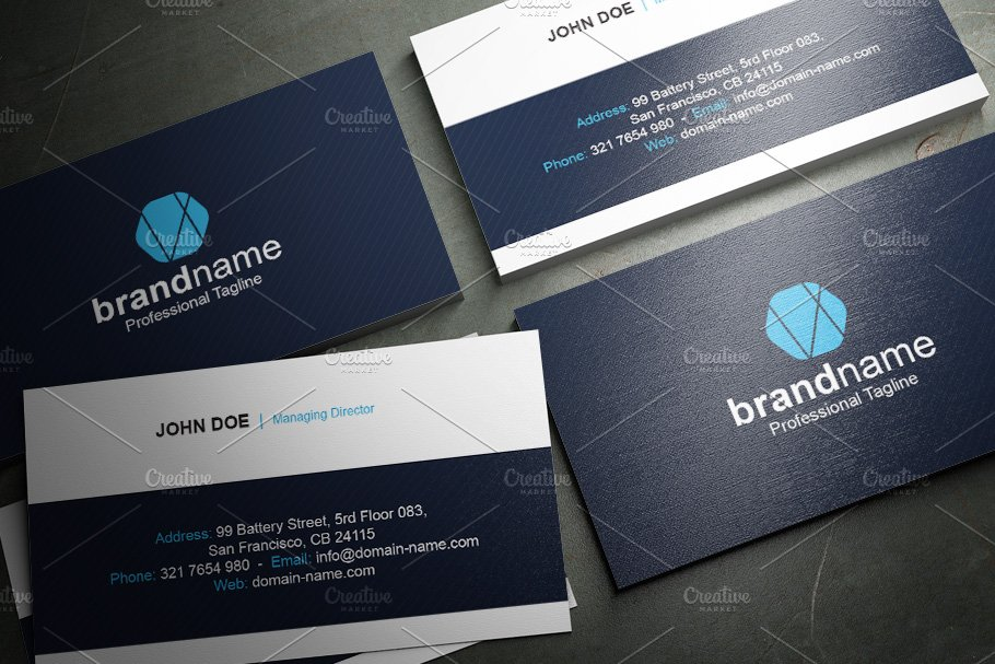 50 Corporate Timeless Business Card in Business Card Templates - product preview 10