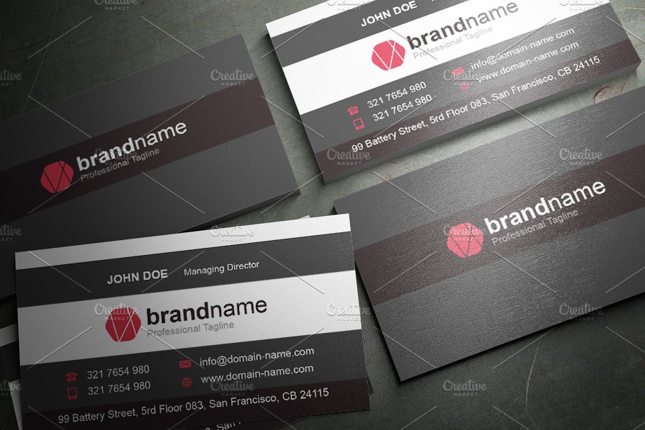 50 Corporate Timeless Business Card in Business Card Templates - product preview 9