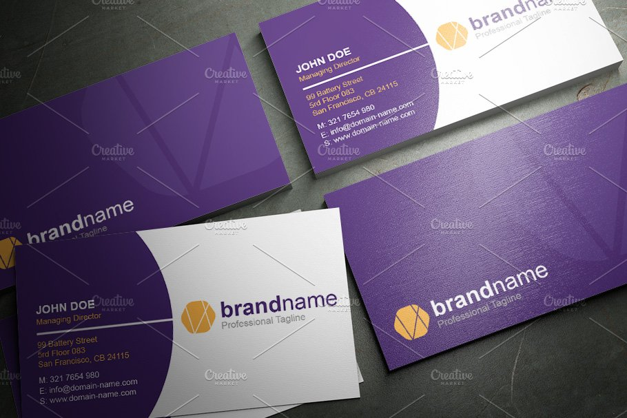 50 Corporate Timeless Business Card in Business Card Templates - product preview 8