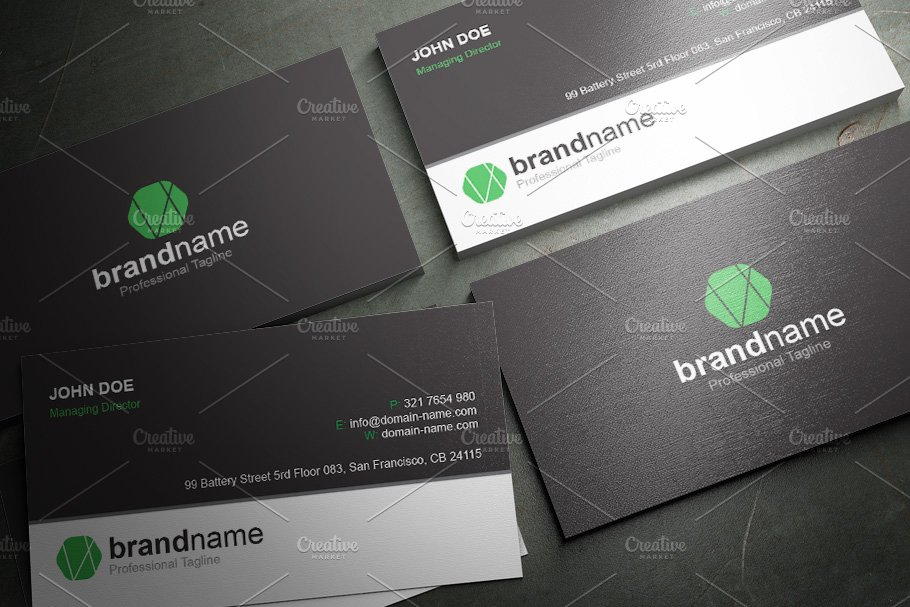 50 Corporate Timeless Business Card in Business Card Templates - product preview 7