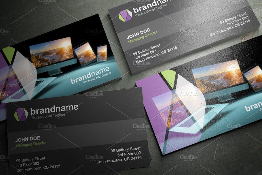 50 Corporate Timeless Business Card in Business Card Templates - product preview 6