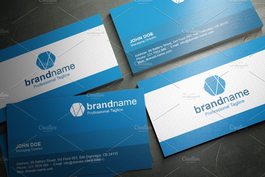 50 Corporate Timeless Business Card in Business Card Templates - product preview 5