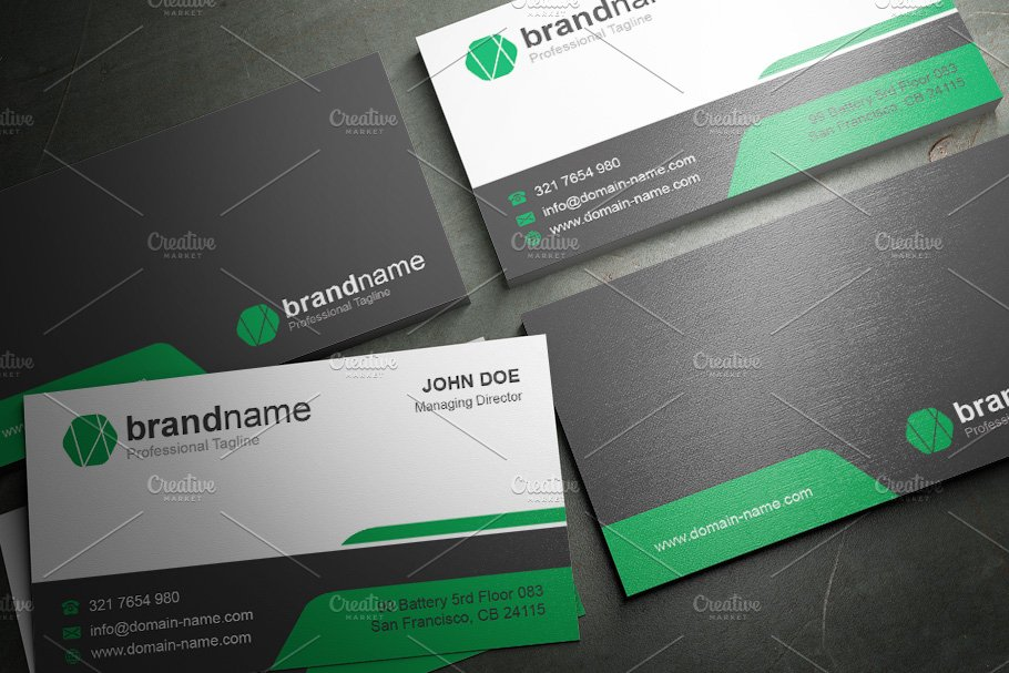 50 Corporate Timeless Business Card in Business Card Templates - product preview 4